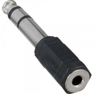 Adapter Audio 6,3mm Stereo Stecker / 3,5mm Stereo Buchse