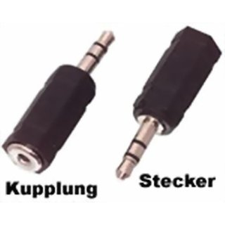Adapter Audio 3,5mm Stereo Stecker / 2,5mm Stereo Buchse