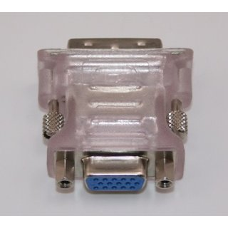 Adapter DVI 24+1 pin Stecker to VGA 15 polig Buchse Transparent